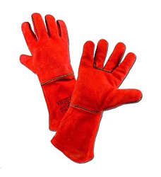 Rukavice svářecí 35 cm, zimní W1/15,  VM, červené