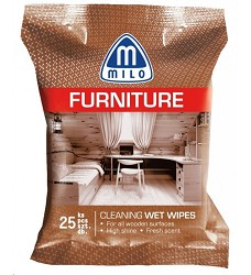 Utěrky vlhčené nábytek 25ks Milo