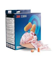 Zátkový chránič sluchu 3M 1100 měkké, oranžové, 37dB, 200párů