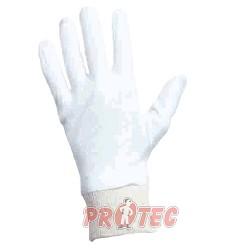 Rukavice CORMORAN, jemný bělený bavlněný úplet,pružná manžeta 121510