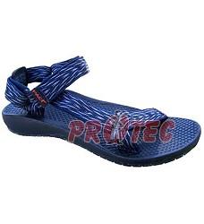 Sandál  černý, modrý 07SA10  sleva: reklamace se nevztahuje na vytržení pásku zpodešve