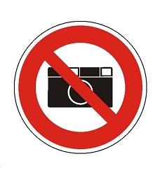 B.t.sam.Symbol  Zákaz fotografování 20cm
