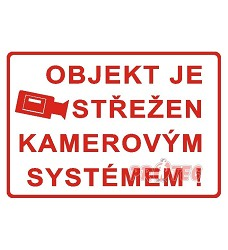 B.t. pl. Objekt střežen kamer. systémem A3