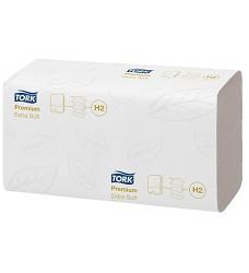 TORK 100297 PREMIUM  ručníky ZZ interfold 2100 ks luxusní 2-vrstvy 34x21 cm H2