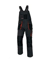 Montérkové kalhoty EMERTON s laclem černo-oranžové