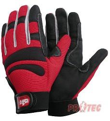 Rukavice ISSA GLOVE Long comfort 07203, červená/černá