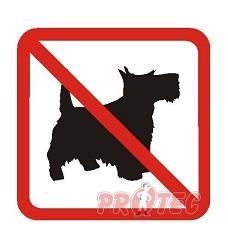B.t.sam.Zákaz vstupu psů