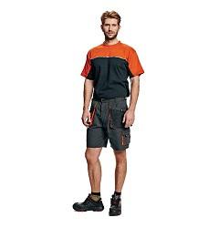 Kalhoty krátké EMERTON 303899 černo-oranžové 270g/m2