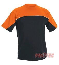 Tričko EMERTON krátký rukáv 301176 černo/oranžové, navy/oranžové