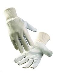 Rukavice PELICAN PLUS z jemné lícové kozinky s nápletem bílé