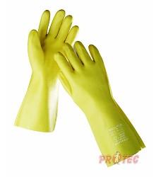 Rukavice STANDARD 0652, máčené v PVC,35cm žluté,1532137