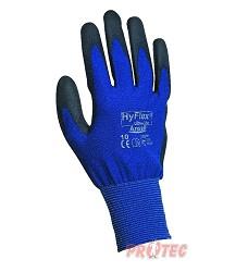Rukavice HYFLEX Ultra-lite A11-618, povrstvené ultra lehké, černo-modré