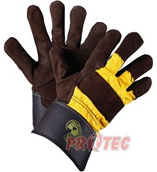 Rukavice 1024 ORINOCO -letní ARA, lícová dlaň+žlutý textil hřbet,