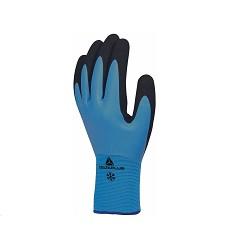 Rukavice VV736BL zimní polyamid / akryl.  latex modrá