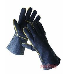 Rukavice SANDPIPER BLACK svářečské zimní v délce 35 cm z hovězí štípenky černé 11