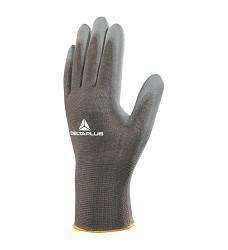 Rukavice VE702GR, polyuretanový povlak na dlaních a koncích prstů/úplet