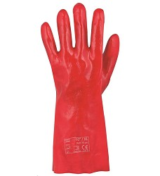 Rukavice RAY PVC 27 cm červené