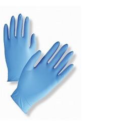 Rukavice vyšetřovací nitrilové PDNTPWD, pudrované nesterilní, 100kusů, modré
