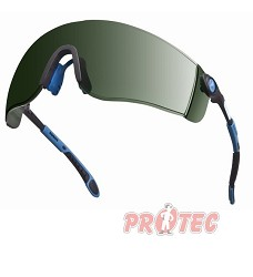 Brýle tmavé zelené T5, LIPARI2 T5, nastavitelné a sklopné stranice