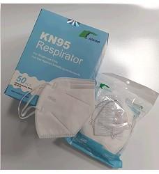 Skládaný respirátor KN95 FFP2 bez výdechového ventilu cena za 1kus/ prodej na bal.=10 kusů