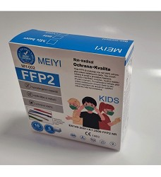Dětský respirátor FFP2  KIDS bez výdechového ventilu cena za 1kus/ prodej na bal.=10 kusů