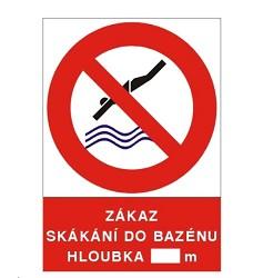 B.t. sam. Zákaz skákání do bazénu A4