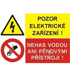 B.t.pl.Pozor el.zařízení/Nehas vodou..A4