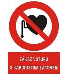 B.t. samolepka,  A4,  Zákaz vstupu s kardiostimulátorem