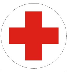 B.t.folie symbol červený kříž průměr 10cm