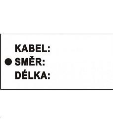 Bezp. tabulka pl. štítek kabel směr délka bílý 11 x 5,5