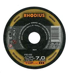 Kotouč brusný 125 x 7,0mm ocel/nerez RS48 Rhodius TopLine 206674