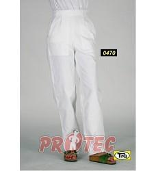 Kalhoty dámské vz. 470.01 bílý kepr zapínání na boku
