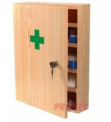 Lékárna nástěnná TYP II (dřevěnná) s náplní
