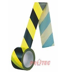 Páska samolepka žlutá/černá 5cm normová / 66m