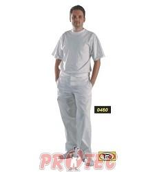 Kalhoty pánské bílé vz.460.8, 100% Ba, pevný pas,
