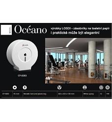 Zásobník toaletního papíru kovový bílý LOSDI  24cm CP-0203