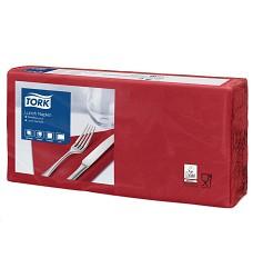 TORK 477213 papírové ubrousky 33x33 cm 2 vrstvy 200 ks  barva bordo