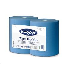 Průmyslová role Bulky Soft 56330  WIPER 304 COLOR EVO modrá - 2ks v balení