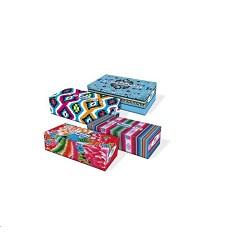 Kapesníčky papírové v krabici 96ks, 4vrstvé Regina vzor Folklor mix