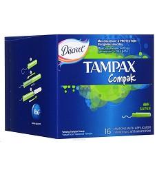 Tampony hygienické Discreet TAMPAX compak super 16 kusů s aplikátorem