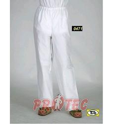 Kalhoty dámské do gumy vz.471.01,  bílé  2 kapsy