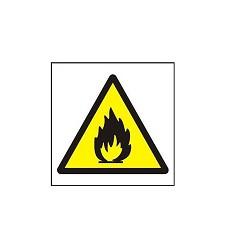 B.t.samolepka.Symbol požár/plamen/105/105