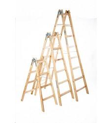 Štafle malířské -  5 stupňů  dřevěné délka bočnice 1,66 m  Proteco