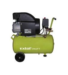 Kompresor EXTOL CRAFT olejový, 1500W ,vzduchový, jednopístový  50L 418210