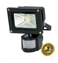 LED reflektor SMD s čidlem pohybu 10W černý, 1xCOB LED WM-10WS-E