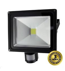 LED reflektor SMD s čidlem pohybu 30W černý, 1xCOB LED WM-30WS-E