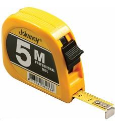Metr svinovací Johnney 5m x 13mm  KDS 5013 žlutý, úzký
