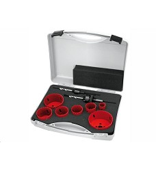 Sada vykružovacích pil v kufru (22,35,38,44,51,68,76mm) HSS BI-METALL  9-dílů Proteco