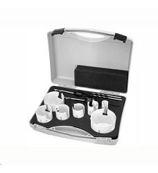 Sada vykružovacích pil v kufru (22,35,38,44,51,68,76mm)  SK plátky 11-dílů Proteco