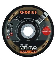 Kotouč brusný 125 x 7mm s keramickým zrnem, RS480  Rhodius TopLine 210239